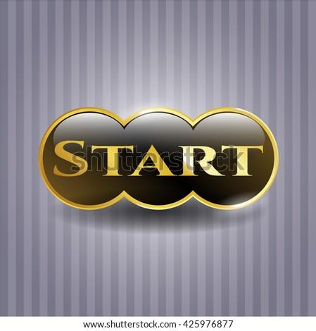 Start golden emblem or badge