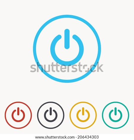 start icon , power button ,vector illustration