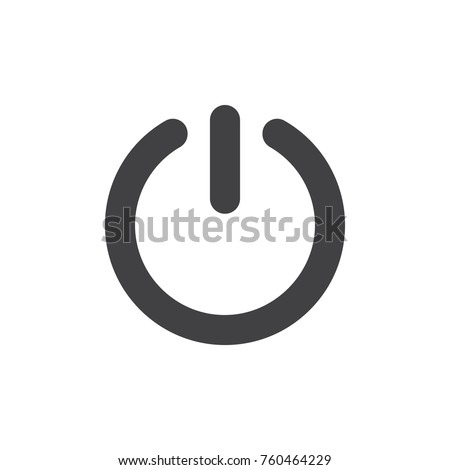 Start power button icon vector, filled flat sign, solid pictogram isolated on white. On/Off switch symbol, logo illustration.