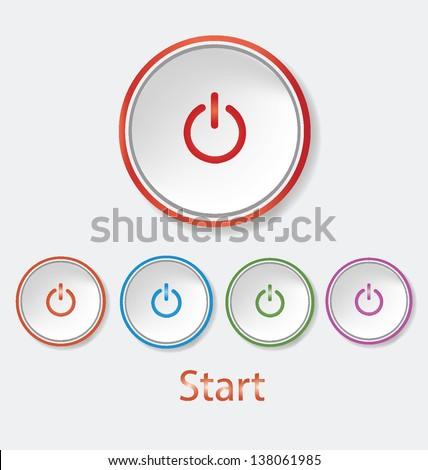start   power button vector