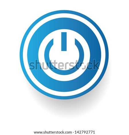 start power symbol vector