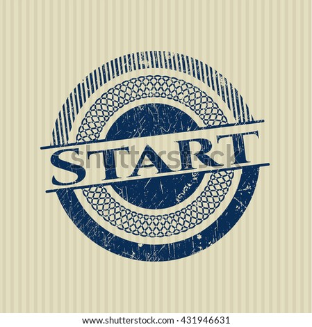 Start rubber stamp