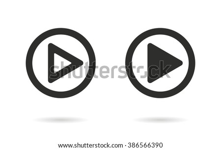 Start   vector icon. Black  illustration isolated on white  background for graphic and web design.