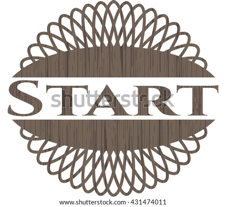 Start wood icon or emblem