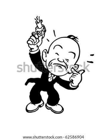 Starting Gun - Retro Clipart Illustration