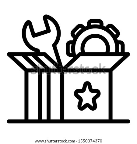 Startup carton box icon. Outline startup carton box vector icon for web design isolated on white background