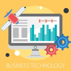 Startup, creative, modern information technology, business and business processes, ideas. Illustration design of business technology, infographics elements