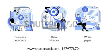 Startup development abstract concept vector illustrations.