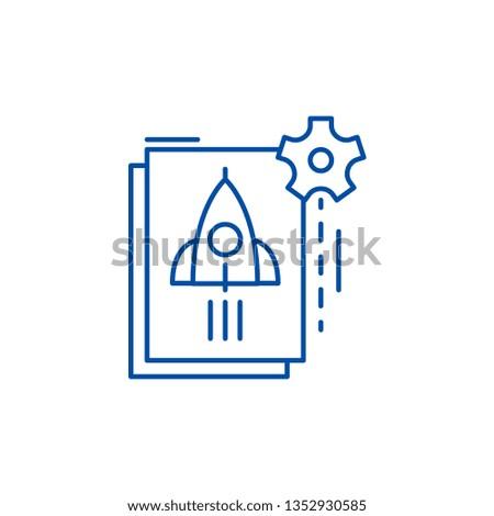 Startup startup line icon concept. Startup startup flat  vector symbol, sign, outline illustration.