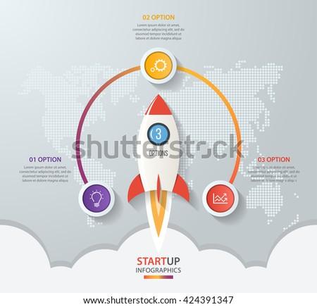 startup vector circle