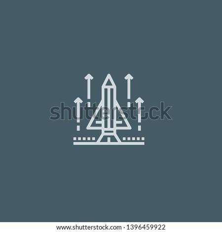 Startup vector icon. Startup concept stroke symbol design. Thin graphic elements vector illustration, outline pattern for your web site design, logo, UI. EPS 10.
