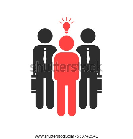 startuper and investor like funding. concept of credit capital depositor, profit sale, light bulb, teacher opportunity sponsor, lamp. flat style trend black logotype graphic design on white background