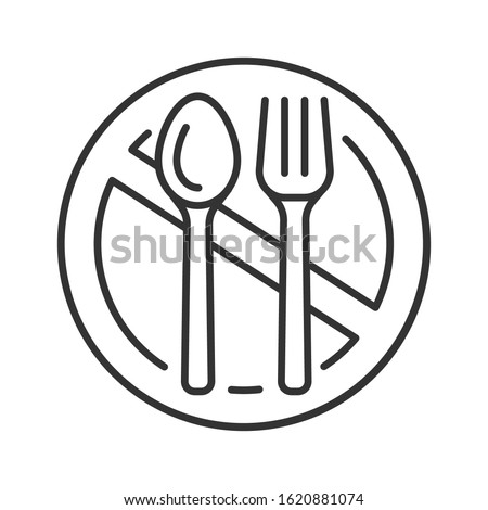 Starvation black line icon. Poverty, risis. Social problem concept. Sign for web page, mobile app, banner, social media. Editable stroke. Stock photo ©