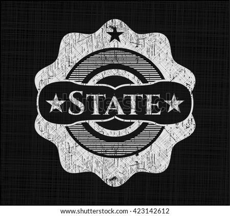 State chalkboard emblem