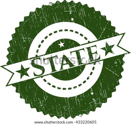 State grunge seal