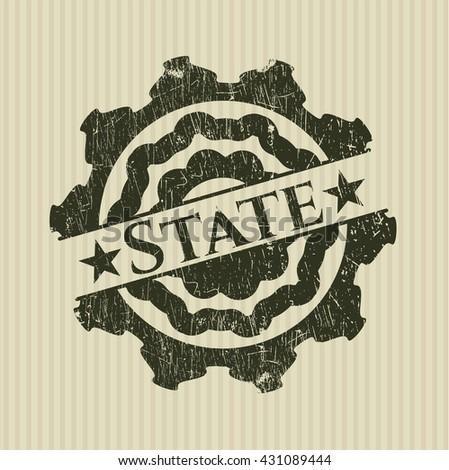 State grunge stamp