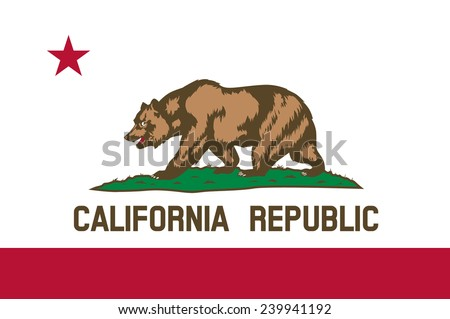 Shutterstock State of California Flag