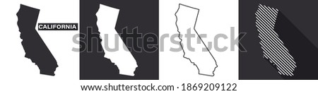 State of California. Map of California. United States of America California. State maps. Vector illustration