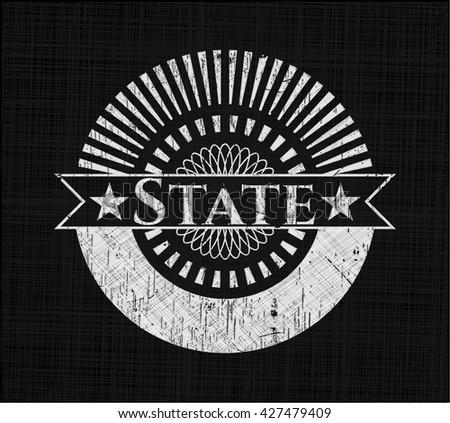 State written on a chalkboard