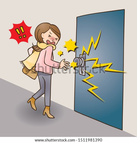 Static electricity comes from a doorknob.