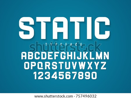 Static vector decorative bold font design, alphabet, typeface, typography.
