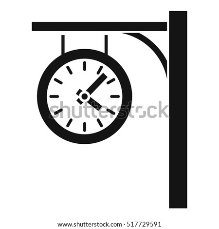 station clock icon simple
