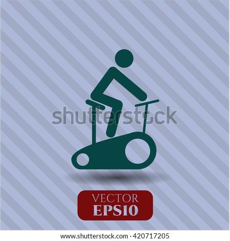 stationary bike icon vector symbol flat eps jpg app