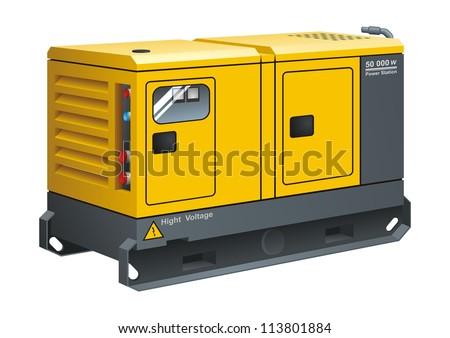 Stationary Diesel Generator Vector 113801884 Shutterstock