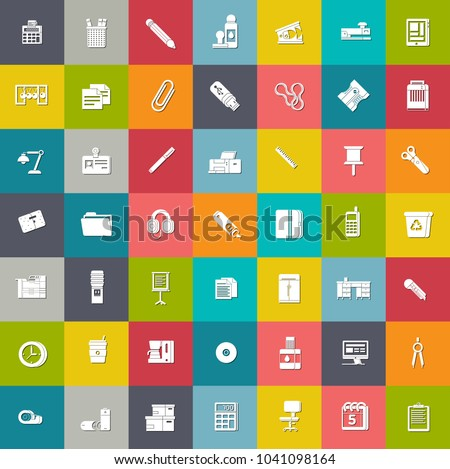 stationery ,business and office icons - web design icons