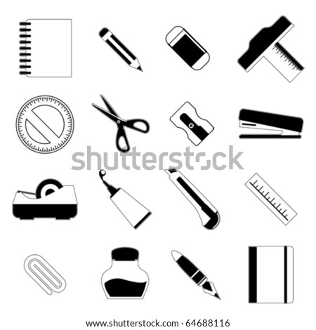 stationery object set