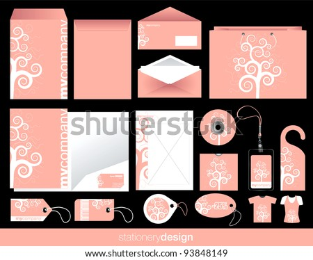 Stationery set design in modern look