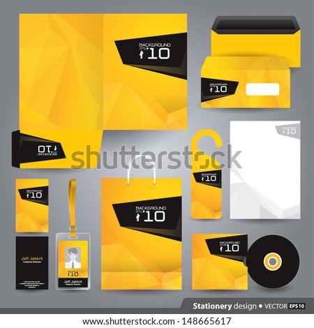 free yellow vector letterhead design download free vector art