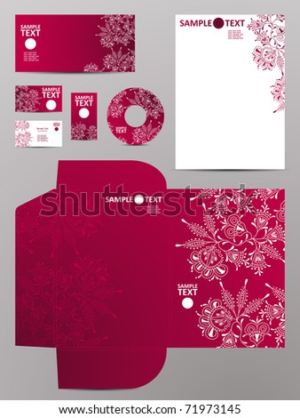stationery set, eps10