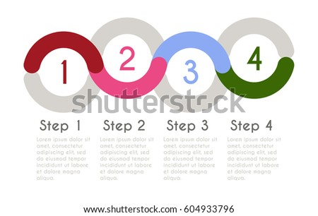 Statistic concept. Business flow process diagram. Infographic vector template for presentation. Timeline statistical chart.