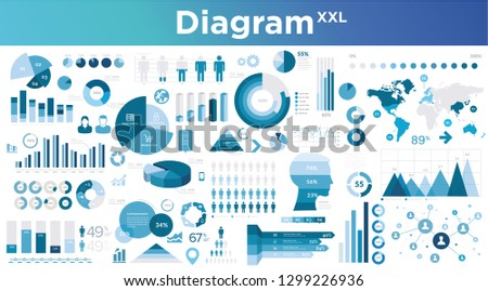 statistical illustration set business