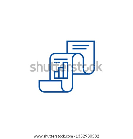 Statistical report,statistics line icon concept. Statistical report,statistics flat  vector symbol, sign, outline illustration.