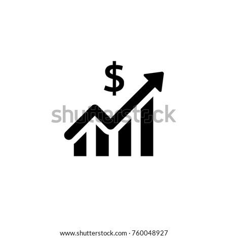 Stats dollar vector icon