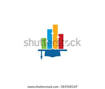 Stats Education Logo Design Element