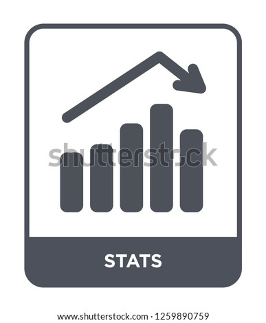 stats icon vector on white background, stats trendy filled icons from Industry collection, stats simple element illustration