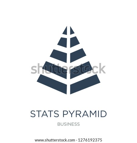 stats pyramid icon vector on white background, stats pyramid trendy filled icons from Business collection, stats pyramid vector illustration