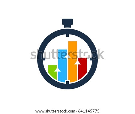 Stats Time Icon Logo Design Element