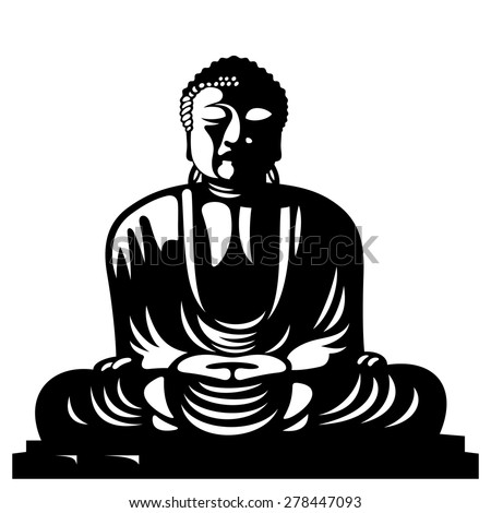 Statue of Buddha sitting in the lotus position. Asian religious symbol