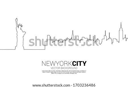 statue of liberty and city