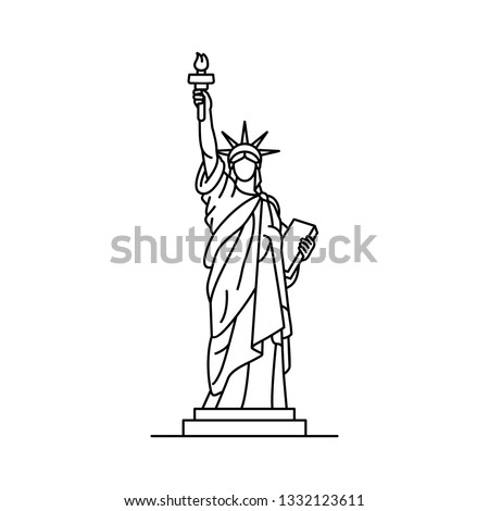 Statue of Liberty icon. isolated on white background Foto stock ©
