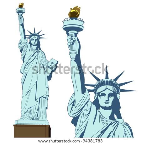 statue of liberty vector download free vector art stock graphics rh vecteezy com statue of liberty vector silhouette statue of liberty vector silhouette