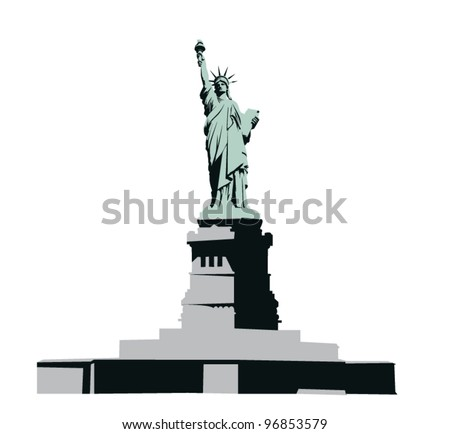 Statue of Liberty on the monument