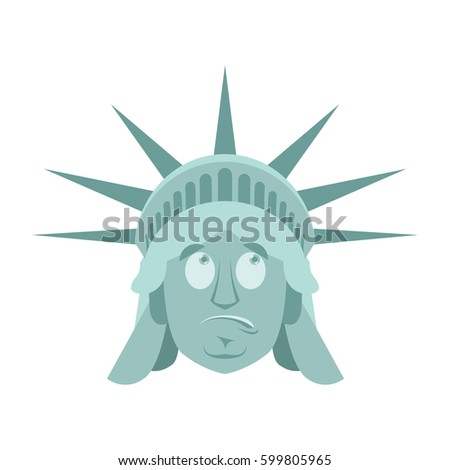 statue of liberty surprised