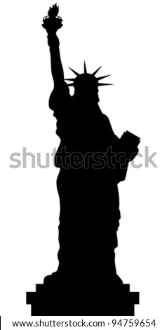 statue of liberty vector black