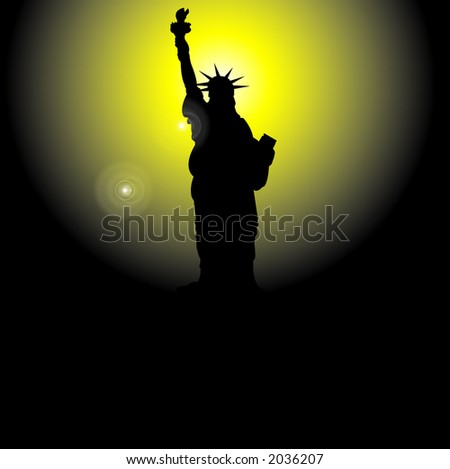 Statue of Liberty - vector illustration
