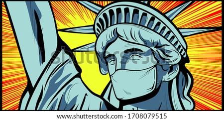 statue of liberty wearing